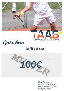 Wertgutschein TAAB-Tennisshop