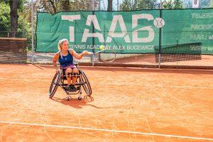 Tina Pesendorfer beim Tennistraining mit TAAB © Chris Gütl