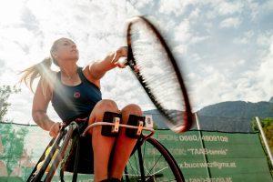 Tina Pesendorfer während des Trainings mit TAAB-Tennis © Chris Gütl