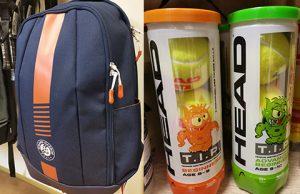 Tennisbag und Tennisbälle